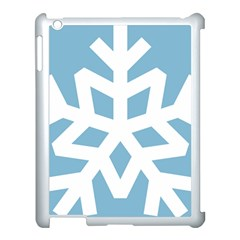 Snowflake Snow Flake White Winter Apple Ipad 3/4 Case (white)