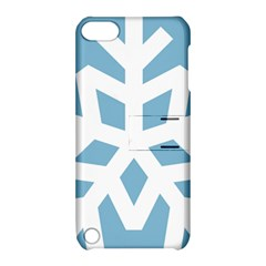 Snowflake Snow Flake White Winter Apple Ipod Touch 5 Hardshell Case With Stand by Nexatart