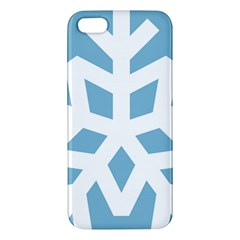 Snowflake Snow Flake White Winter Apple Iphone 5 Premium Hardshell Case