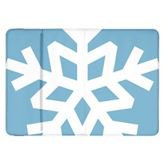 Snowflake Snow Flake White Winter Samsung Galaxy Tab 8 9  P7300 Flip Case