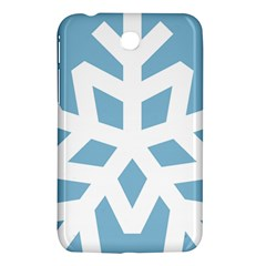Snowflake Snow Flake White Winter Samsung Galaxy Tab 3 (7 ) P3200 Hardshell Case