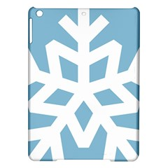 Snowflake Snow Flake White Winter Ipad Air Hardshell Cases by Nexatart