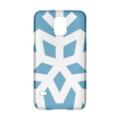 Snowflake Snow Flake White Winter Samsung Galaxy S5 Hardshell Case  by Nexatart