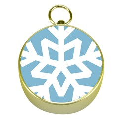 Snowflake Snow Flake White Winter Gold Compasses
