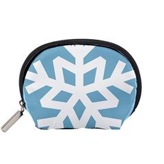 Snowflake Snow Flake White Winter Accessory Pouches (small)