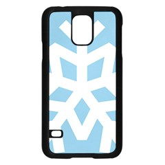 Snowflake Snow Flake White Winter Samsung Galaxy S5 Case (black) by Nexatart
