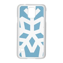 Snowflake Snow Flake White Winter Samsung Galaxy S5 Case (white) by Nexatart