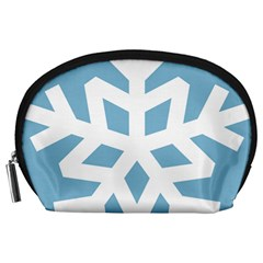 Snowflake Snow Flake White Winter Accessory Pouches (large)