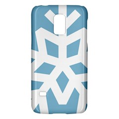 Snowflake Snow Flake White Winter Galaxy S5 Mini by Nexatart