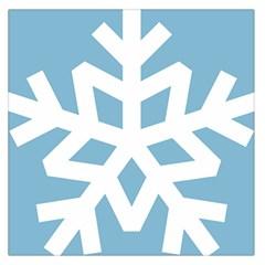 Snowflake Snow Flake White Winter Large Satin Scarf (square)