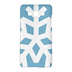 Snowflake Snow Flake White Winter Samsung Galaxy A5 Hardshell Case  by Nexatart