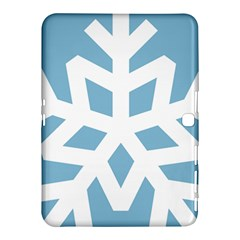Snowflake Snow Flake White Winter Samsung Galaxy Tab 4 (10 1 ) Hardshell Case