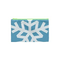 Snowflake Snow Flake White Winter Cosmetic Bag (xs)