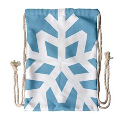 Snowflake Snow Flake White Winter Drawstring Bag (large)