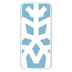 Snowflake Snow Flake White Winter Samsung Galaxy S8 Plus White Seamless Case