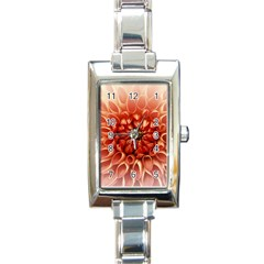 Dahlia Flower Joy Nature Luck Rectangle Italian Charm Watch