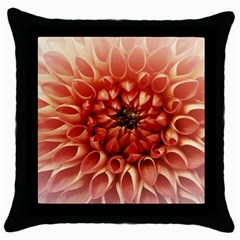 Dahlia Flower Joy Nature Luck Throw Pillow Case (black)