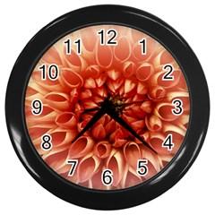 Dahlia Flower Joy Nature Luck Wall Clocks (black)