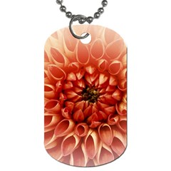 Dahlia Flower Joy Nature Luck Dog Tag (two Sides)