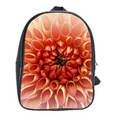 Dahlia Flower Joy Nature Luck School Bag (large)