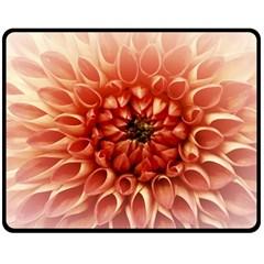 Dahlia Flower Joy Nature Luck Fleece Blanket (medium)  by Nexatart
