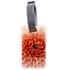 Dahlia Flower Joy Nature Luck Luggage Tags (one Side)