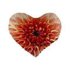 Dahlia Flower Joy Nature Luck Standard 16  Premium Flano Heart Shape Cushions