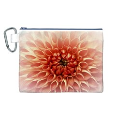 Dahlia Flower Joy Nature Luck Canvas Cosmetic Bag (l) by Nexatart