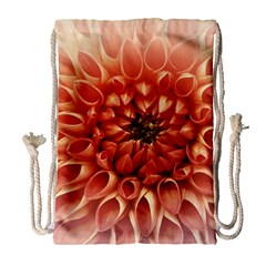 Dahlia Flower Joy Nature Luck Drawstring Bag (large)