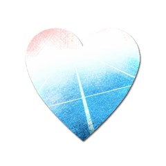 Court Sport Blue Red White Heart Magnet by Nexatart