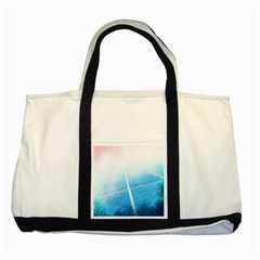 Court Sport Blue Red White Two Tone Tote Bag