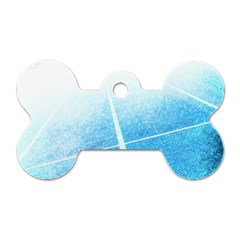 Court Sport Blue Red White Dog Tag Bone (two Sides)