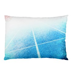 Court Sport Blue Red White Pillow Case (two Sides) by Nexatart