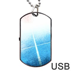 Court Sport Blue Red White Dog Tag Usb Flash (one Side)