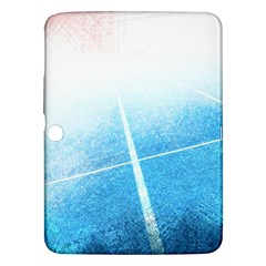 Court Sport Blue Red White Samsung Galaxy Tab 3 (10 1 ) P5200 Hardshell Case