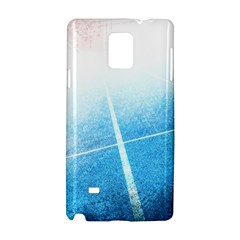 Court Sport Blue Red White Samsung Galaxy Note 4 Hardshell Case by Nexatart