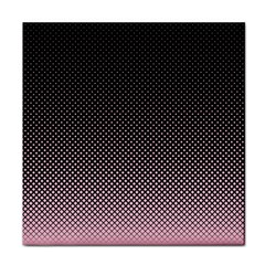 Halftone Background Pattern Black Tile Coasters