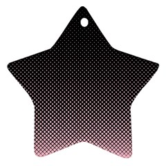 Halftone Background Pattern Black Ornament (star)