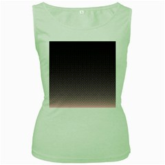 Halftone Background Pattern Black Women s Green Tank Top
