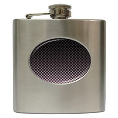 Halftone Background Pattern Black Hip Flask (6 Oz)