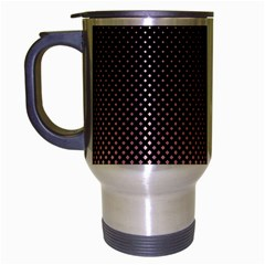 Halftone Background Pattern Black Travel Mug (silver Gray)