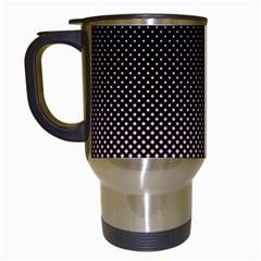 Halftone Background Pattern Black Travel Mugs (white)