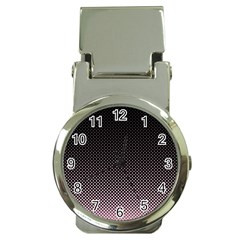 Halftone Background Pattern Black Money Clip Watches