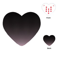 Halftone Background Pattern Black Playing Cards (heart)  by Nexatart