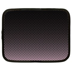Halftone Background Pattern Black Netbook Case (large)