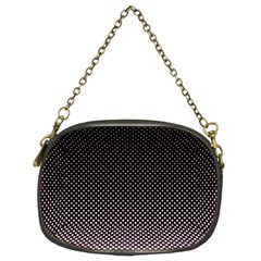 Halftone Background Pattern Black Chain Purses (two Sides)