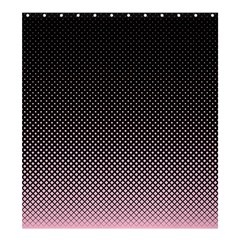 Halftone Background Pattern Black Shower Curtain 66  X 72  (large)
