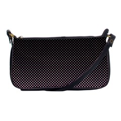Halftone Background Pattern Black Shoulder Clutch Bags