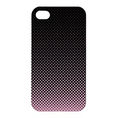 Halftone Background Pattern Black Apple Iphone 4/4s Hardshell Case