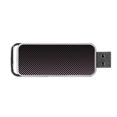Halftone Background Pattern Black Portable Usb Flash (one Side)